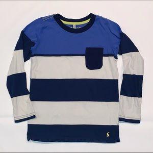 Joules Blue White Stripe Shirt